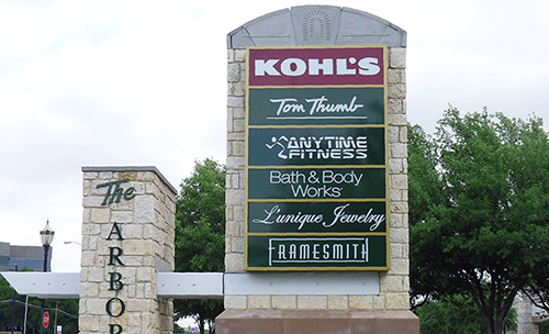 Retail Monument Sign